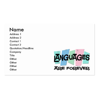 Languages Are Forever Double-Sided Standard Business Cards (Pack Of 100)