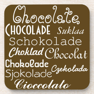 Languages of Chocolate Coasters