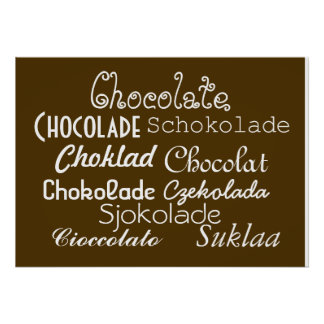 "Languages of Chocolate Poster 28"" x 20"", (Matte)"