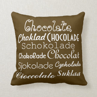 Languages of Chocolate Throw Pillow