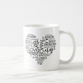 Languages of Love Heart Coffee Mugs