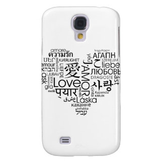 Languages of Love Heart Galaxy S4 Case