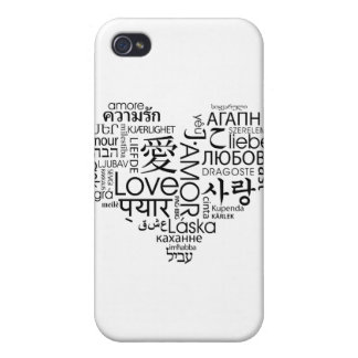 Languages of Love Heart iPhone 4 Cases