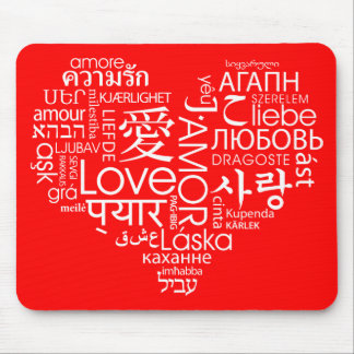 Languages of Love Heart Mousepads