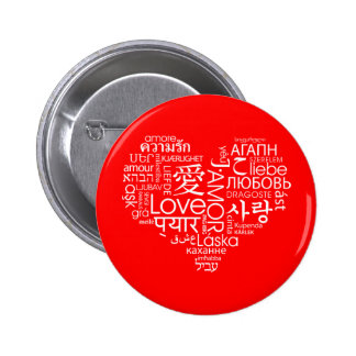 Languages of Love Heart Pins