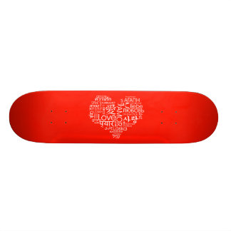 Languages of Love Heart Skate Boards
