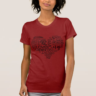 Languages of Love Heart Tshirt