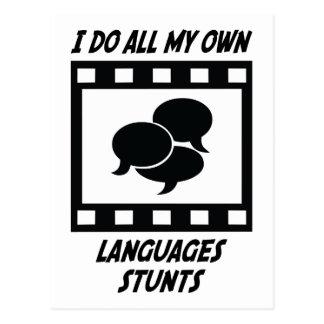 Languages Stunts Postcard
