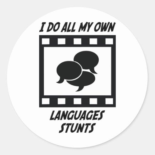 Languages Stunts Sticker