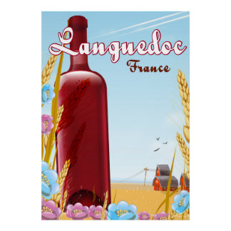 Languedoc France travel poster
