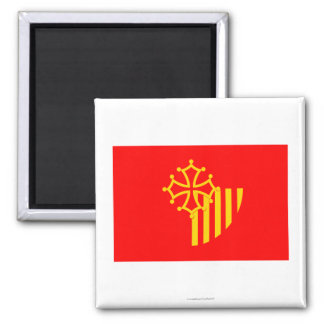 Languedoc-Roussillon flag 2 Inch Square Magnet