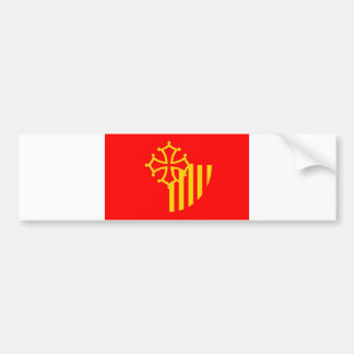 Languedoc Roussillon flag france country region Bumper Sticker