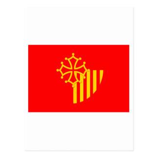 Languedoc-Roussillon flag Postcard
