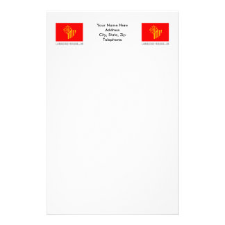 Languedoc-Roussillon flag with name Stationery