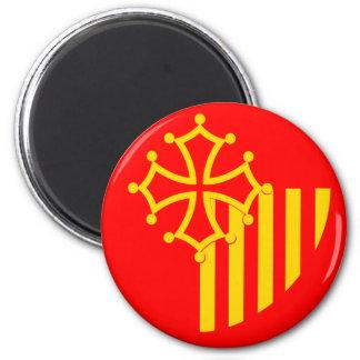 Languedoc Roussillon, France flag Magnet