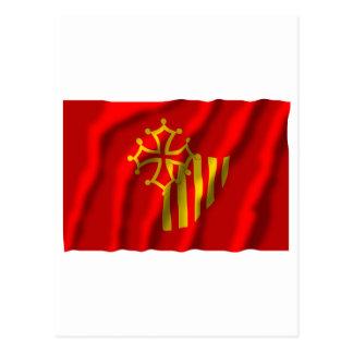 Languedoc-Roussillon waving flag Postcard