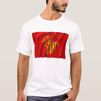 Languedoc-Roussillon waving flag T-Shirt