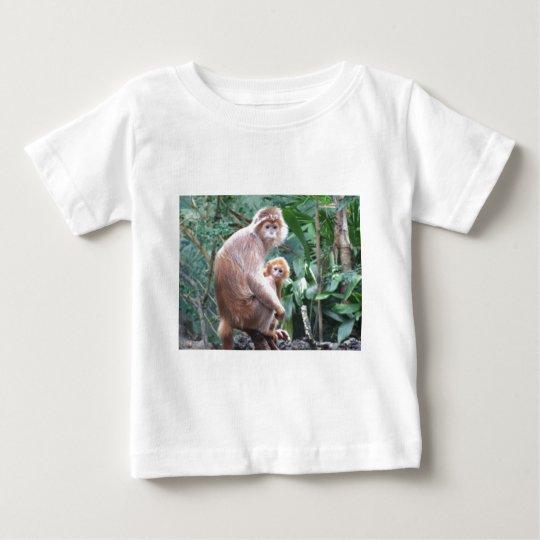 Langur Monkey Mother & Baby Baby T-Shirt