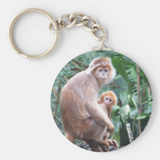 Langur Monkey Mother & Baby Keychain