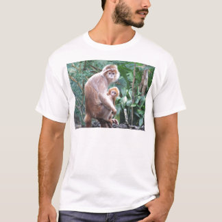 Langur Monkey Mother & Baby T-Shirt
