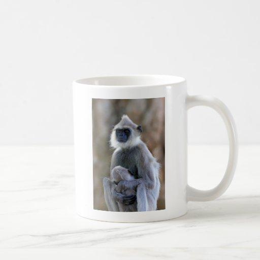 Langur monkey mugs