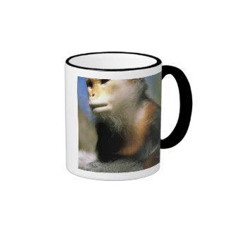 Langur prisionero del douc, o nemaeus del pygathri tazas de café