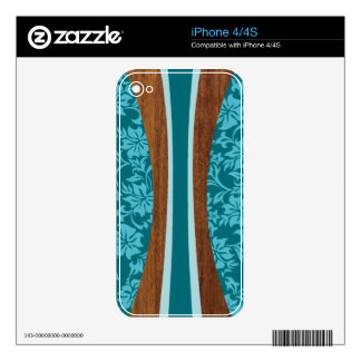 Laniakea Hawaiian Surfboard iPhone 4/4S Skin Skin For iPhone 4