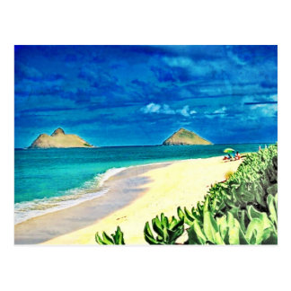 Lanikai, Hawai'i Postcard