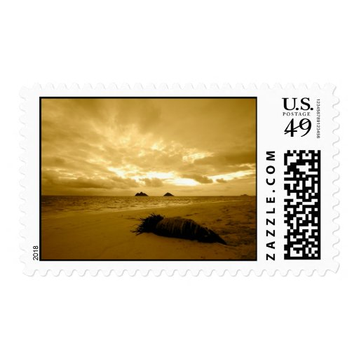lanikai sunrise stamp