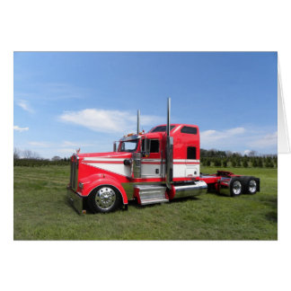 Lanita Red Kenworth Note Card