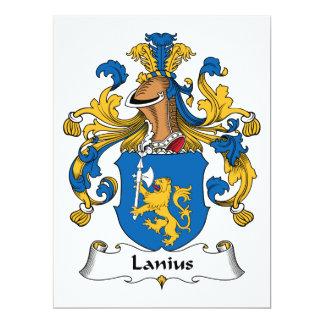 Lanius Family Crest Card