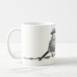 Lanius meridionalis coffee mug