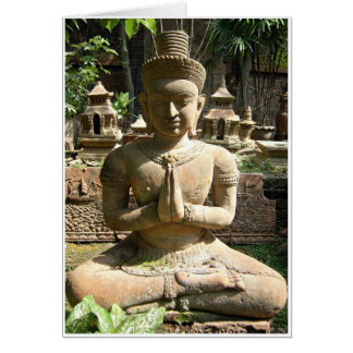 Lanna Style Statue Greeting Card