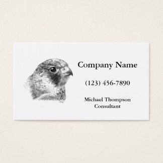 Lanner Falcon Drawing Business Card