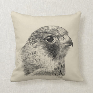 Lanner Falcon Drawing Throw Pillow