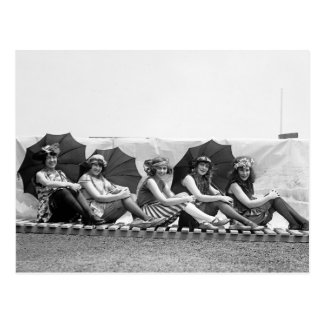 Lansburg que baña a chicas: 1922 postales