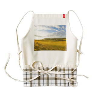 Lanscape at the Brevine, Neuchatel, Switzerland Zazzle HEART Apron