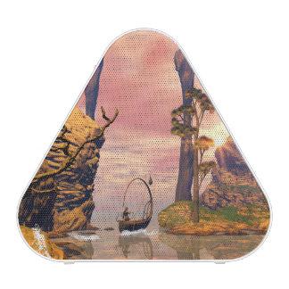 Lanscape de la fantasía con el barco de la lámpara altavoz bluetooth