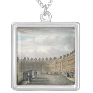 Lansdown Crescent, Bath, 1820 Silver Plated Necklace