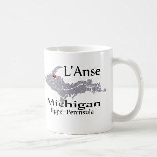 L'Anse Michigan Heart Map Design Mug Mugs
