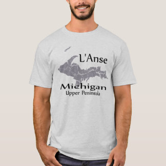 L'Anse Michigan Map Design T-shirt