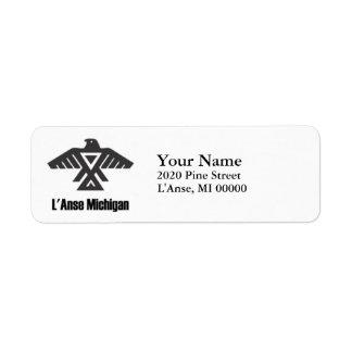 L'Anse Michigan Ojibwe Native American Address Return Address Label
