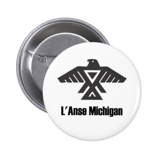 L'Anse Michigan Ojibwe Native American Button