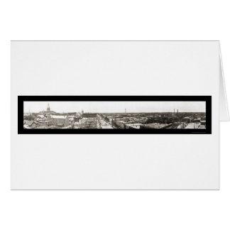 Lansing MI Panoramic Photo 1912 Greeting Card