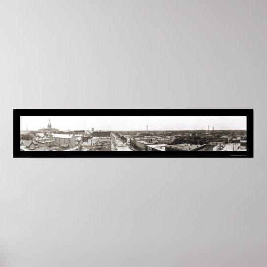 Lansing MI Panoramic Photo 1912 Poster