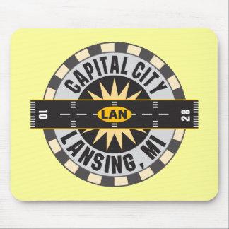 Lansing, Michigan LAN Airport Mouse Pad