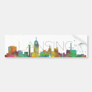 LANSING, MICHIGAN SKYLINE BUMPER STICKER