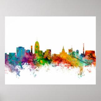 Lansing Michigan Skyline Poster