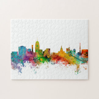 Lansing Michigan Skyline Jigsaw Puzzle
