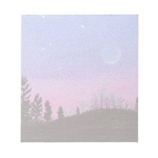 Lansing Moon and Stars Notepad
